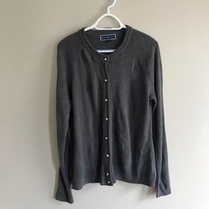 Gray Karen Scott cardigan